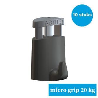schilderijhaak-ophanghaak schilderij-schilderij ophanghaak- schilderijhaak-Artiteq Micro grip 2 mm- 10stuks van 20 kg-9.6852SA